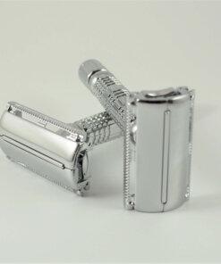 Maquina de afeitar apertura mariposa Cromo