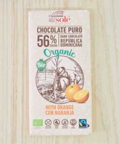 tableta de chocolate con naranja al 56% en com antany